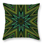 Star Of Threads Throw Pillow