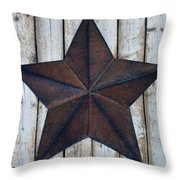 Star On Barn Wall Throw Pillow