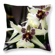Star Orchids Throw Pillow