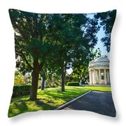 Star Over The Mausoleum - Henry And Arabella Huntington Overlooks The Gardens. Throw Pillow