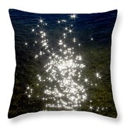 Star Reflection In The Water Throw Pillow