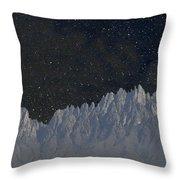 Star Shine Organ Mountains Throw Pillow