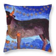 Star Sign Taurus Throw Pillow