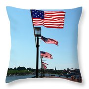 Star Spangled Banner Flags In Baltimore Throw Pillow