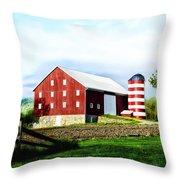Star Spangled Farm Throw Pillow