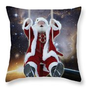 Santa's Star Swing Throw Pillow