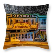Star Trails Over The Rialto Throw Pillow