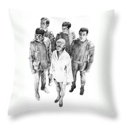 Star Trek - Meeting With V'ger Throw Pillow by Liz Molnar