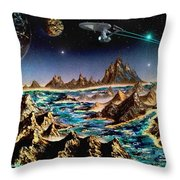 Star Trek - Orbiting Planet Throw Pillow