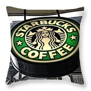 Starbucks Logo Throw Pillow