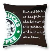 Starbucks Mission Throw Pillow