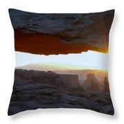 Starburst At Mesa Arch Throw Pillow