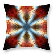Starburst Galaxy M82 V Throw Pillow