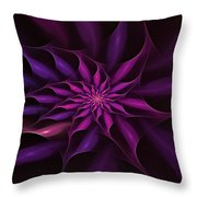 Starburst Pinwheel Pink Violet Throw Pillow