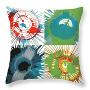 Starburst Splashes Throw Pillow