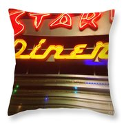 Stardust Diner - New York City Throw Pillow