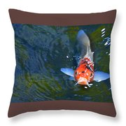 Stare Down With A Koi Throw Pillow