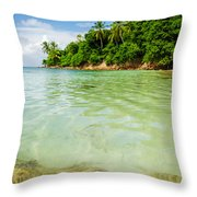 Starfish And Clear Water Throw Pillow