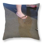 Starfish Belly Up Throw Pillow