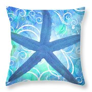 Starfish By Jan Marvin Throw Pillow