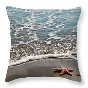 Starfish Catching The Waves Throw Pillow