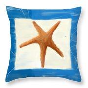 Starfish Galore Throw Pillow by Lourry Legarde