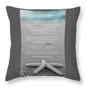 Starfish Make A Difference  Throw Pillow