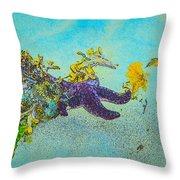 Starfish Paradise Throw Pillow