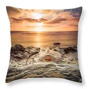 Starfish Sunset Throw Pillow