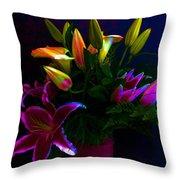 Stargazer Bouquet Throw Pillow