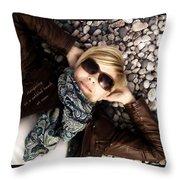 Stargazing At Noon Throw Pillow