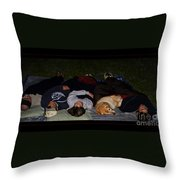 Stargazing With Chucky Throw Pillow