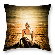 Staring At The Horizon Throw Pillow