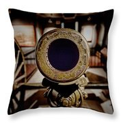 Staring Down The Barrel Of A Canon Throw Pillow