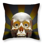 Staring Skull Throw Pillow