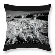 Surreal Cemetery Throw Pillow