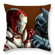 Stark Industries Vs Wayne Enterprises Throw Pillow