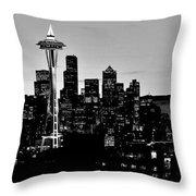 Stark Seattle Skyline Throw Pillow