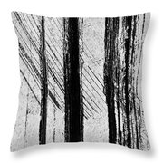Starlight Behind The Trees Throw Pillow