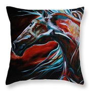Starlight Run Throw Pillow by Laurie Pace