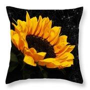 Starlight Sunflower Throw Pillow