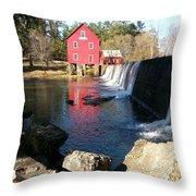Starr's Mill In Senioa Georgia 2 Throw Pillow