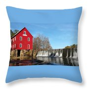 Starr's Mill In Senioa Georgia Throw Pillow