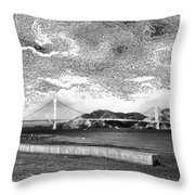 Starry Bay Day Throw Pillow