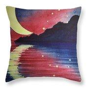 Starry Lake Throw Pillow