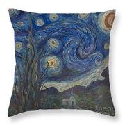Starry Night Copy 8 Throw Pillow