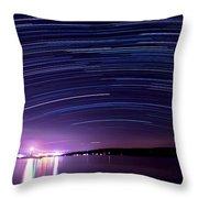 Starry Night On Cayuga Lake Throw Pillow
