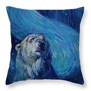 Starry Night Van Gogh Bear Throw Pillow