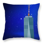Starry Nights - Wtc One Throw Pillow