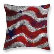 Starry Stripes Throw Pillow